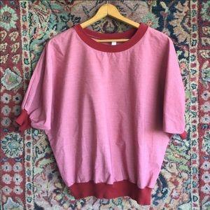 American Apparel red ringer blouse
